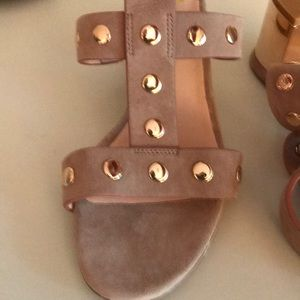 New Kate Spade Welby studded sandals. 7.5. Nude